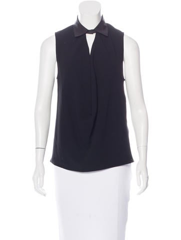 Balenciaga Draped Sleeveless Top None