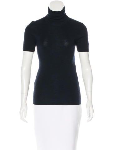 Balenciaga Cashmere Short Sleeve Top None