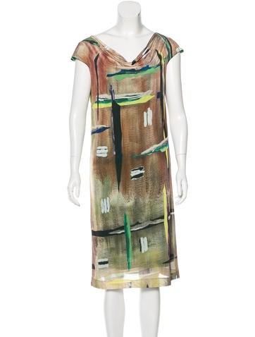 Balenciaga Printed Shift Dress