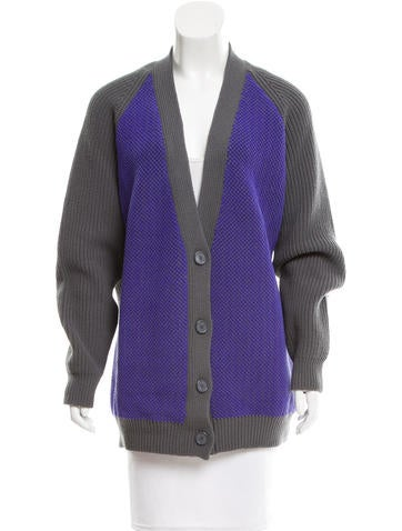 Balenciaga Textured Virgin Wool Cardigan None