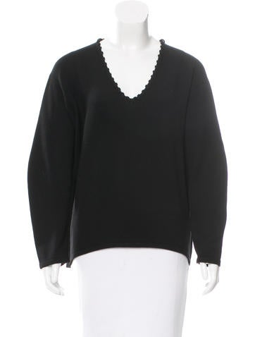 Balenciaga Knit V-Neck Sweater None