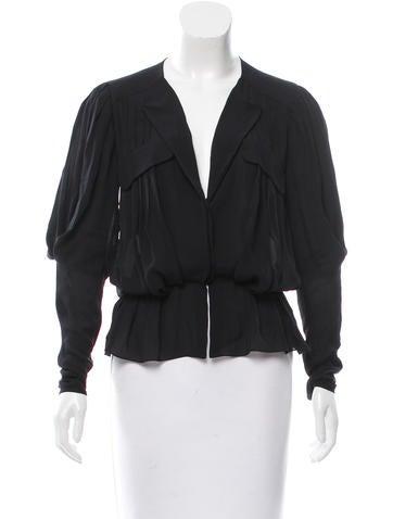 Balenciaga Silk Pleated Top None