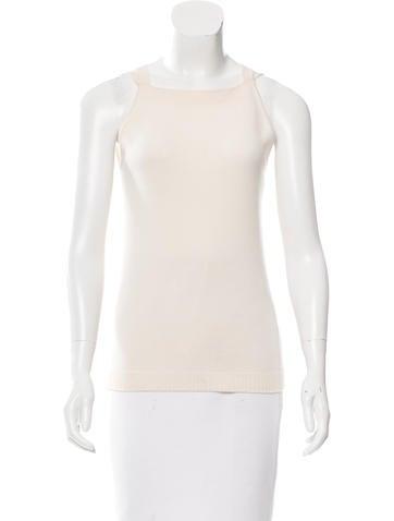 Balenciaga Wool Sleeveless Top None