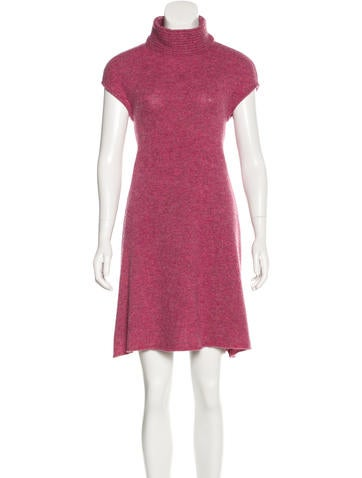 Balenciaga Wool Mock Neck Dress None