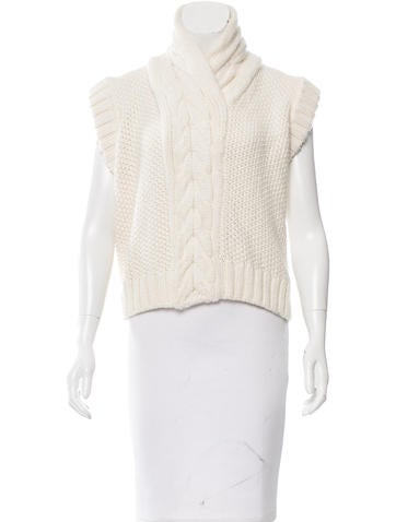 Balenciaga Cable Knit Short Sleeve Sweater None