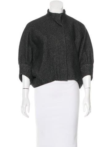 Balenciaga Dolman Wool Jacket None