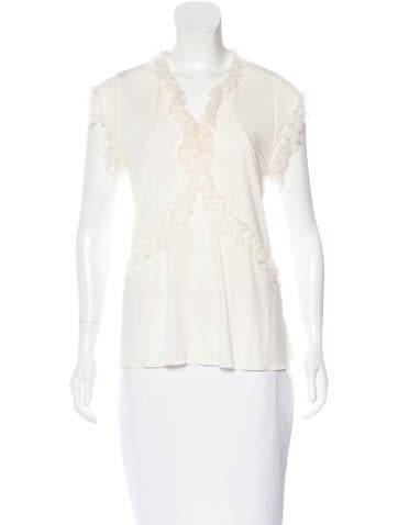 Balenciaga Lace Sleeveless Blouse None