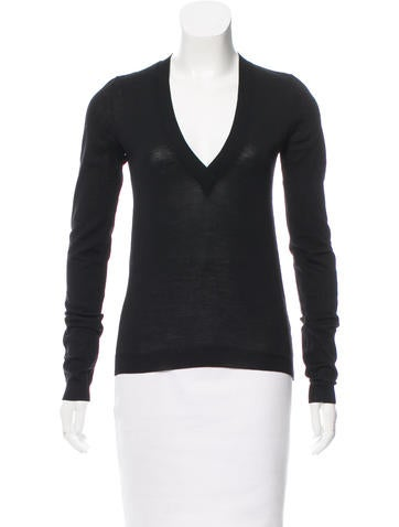 Balenciaga Wool V-Neck Sweater None