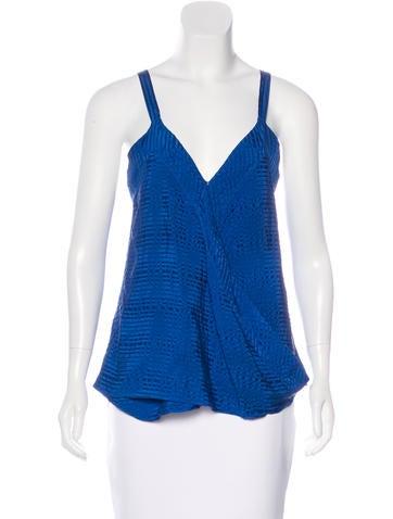 Balenciaga Sleeveless Silk Top None