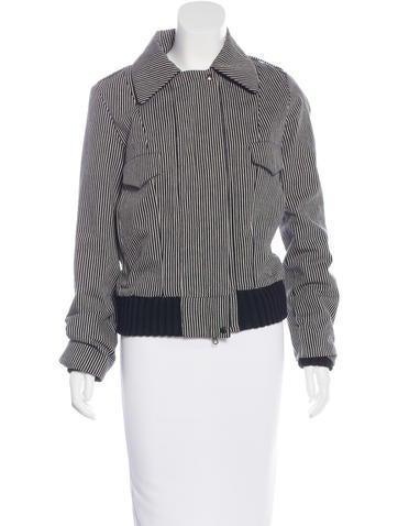 Balenciaga Striped Canvas Jacket None
