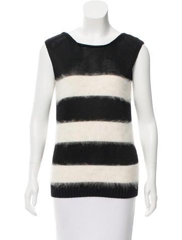 Balenciaga Striped Textured Top None