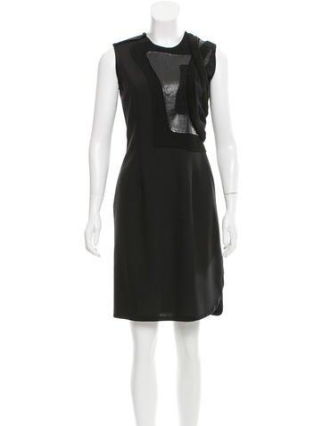 Balenciaga Wool-Blend Sleeveless Dress None