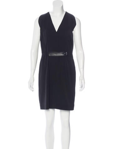 Balenciaga Sleeveless V-Neck Dress None