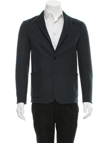 Balenciaga Double-Faced Wool Blazer None