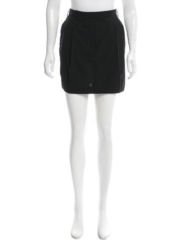 Balenciaga Wool Pleated Skirt None