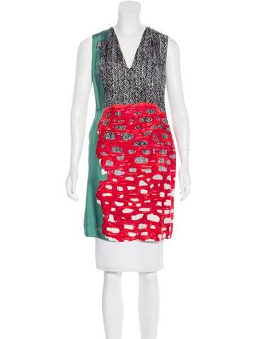 Balenciaga Silk Abstract Print Dress w/ Tags