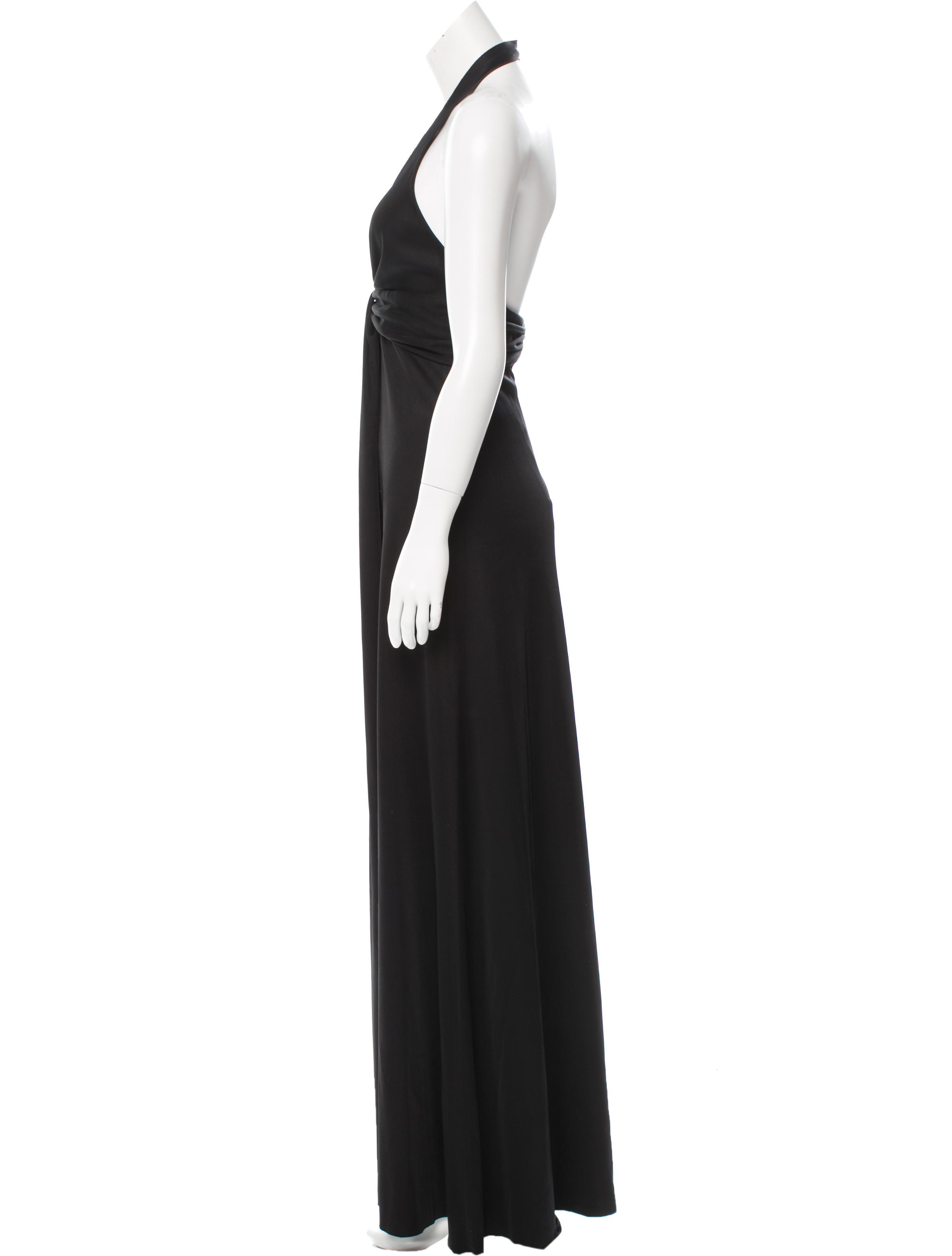 Balenciaga Black Halter Gown - Clothing - BAL45683   The RealReal