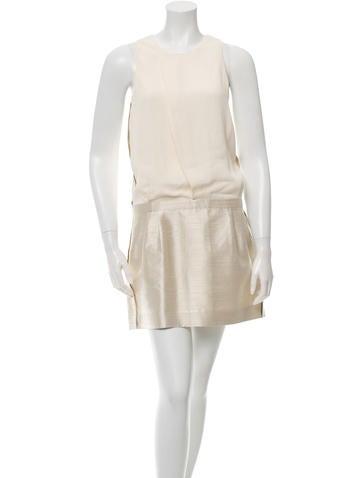 Balenciaga Sleeveless Pleat-Accented Dress None