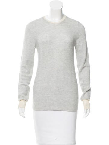 Balenciaga Knit Mesh-Trimmed Top None