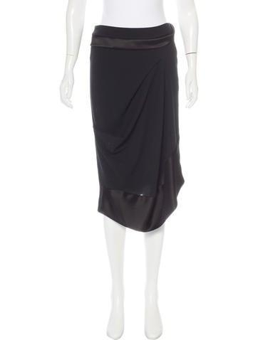 Balenciaga Gathered Wool Skirt None