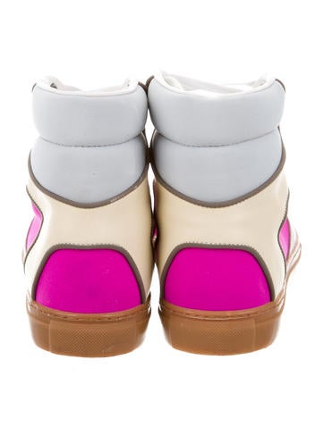 Multicolor High-Top Sneakers