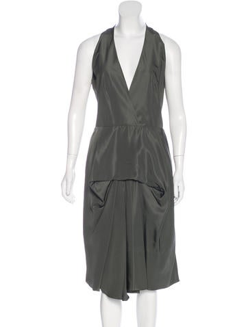 Balenciaga Sleeveless Silk Dress None