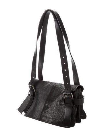 Suede Flap Bag