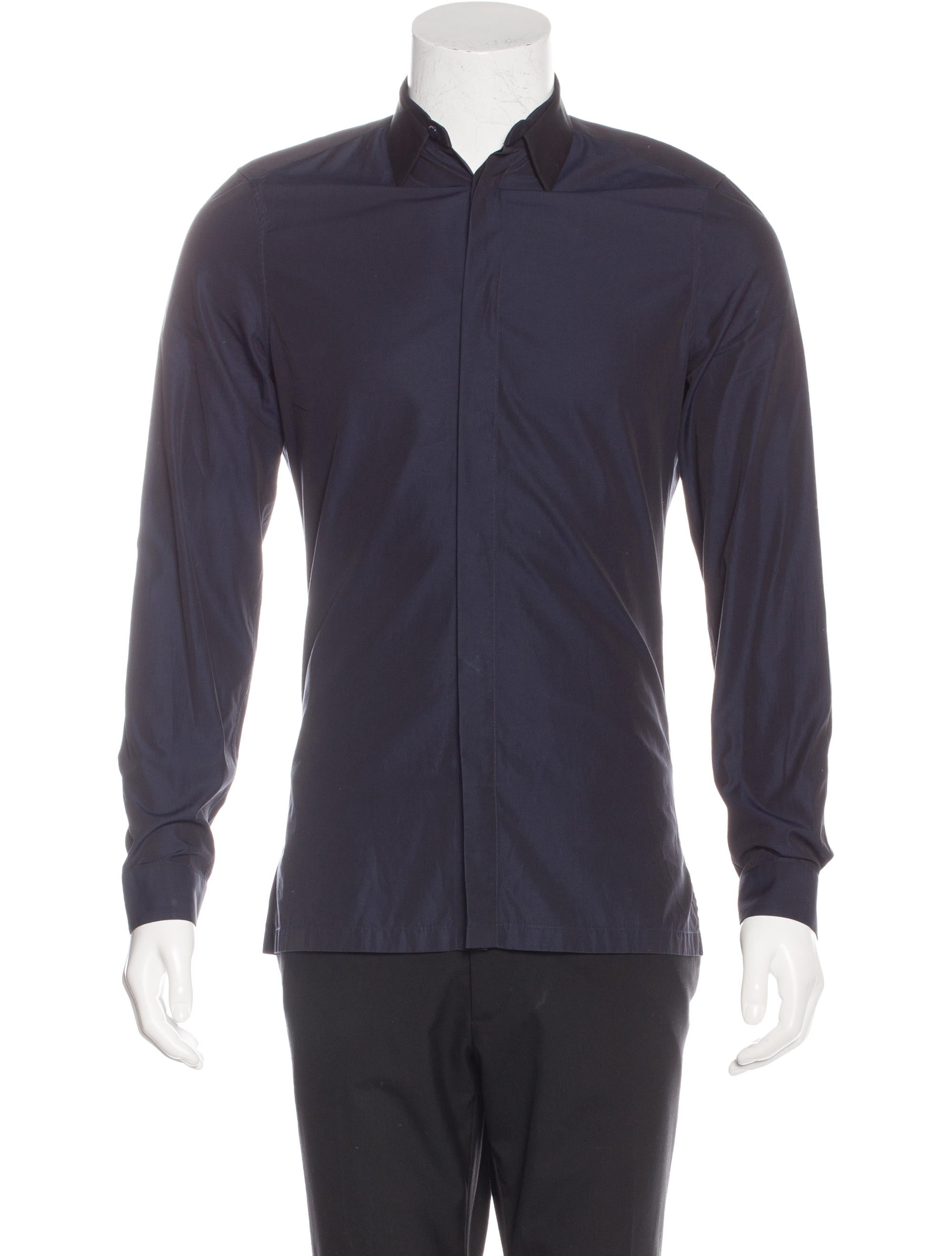 Balenciaga Tapered Collar Dress Shirt Clothing Bal46843 The