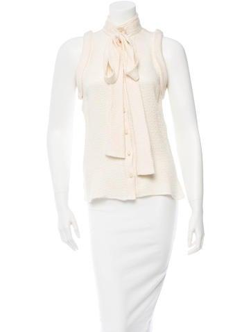 Balenciaga Silk Top None