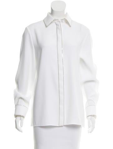 Balenciaga Chain-Trimmed Button-Up Top None