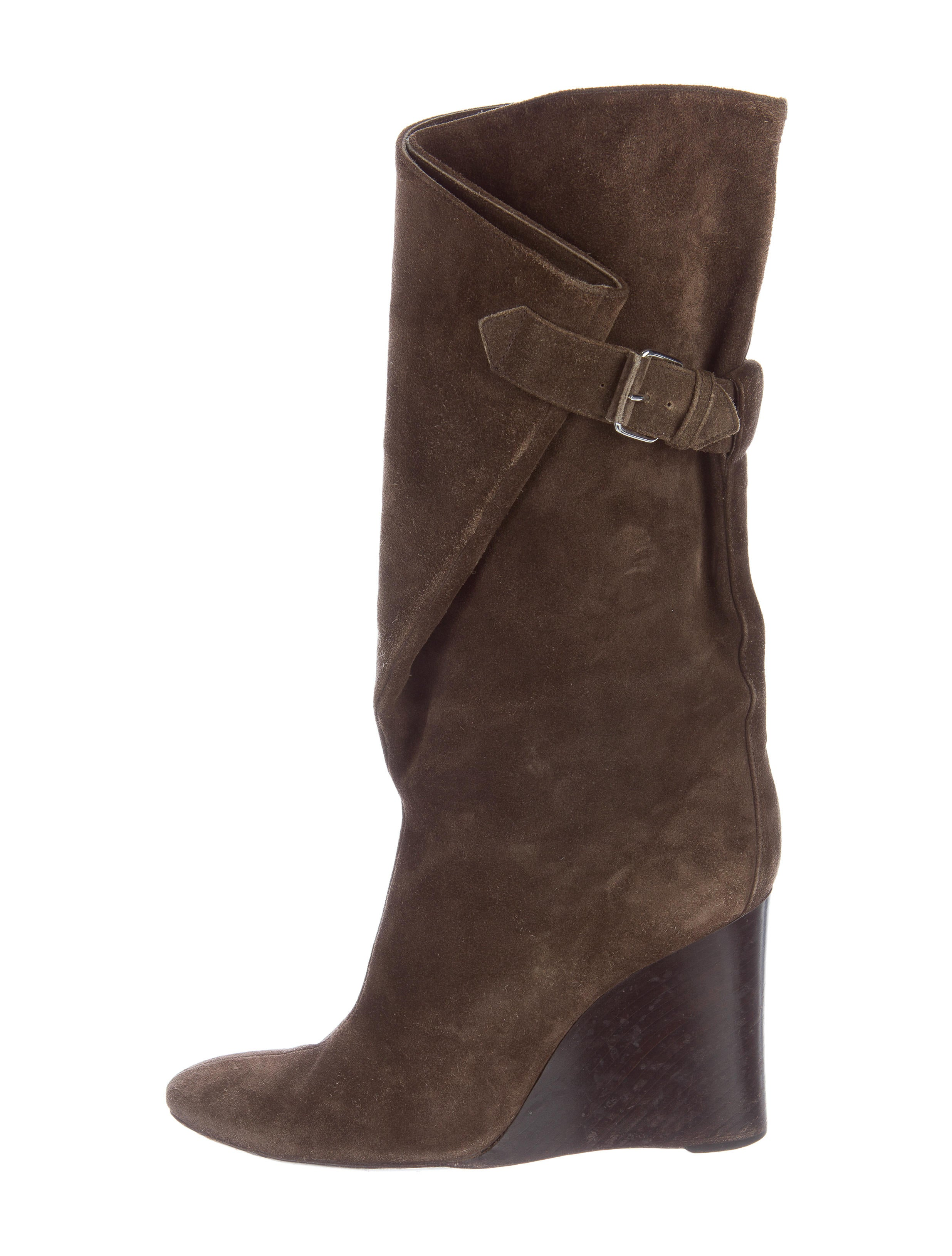 balenciaga suede wedge boots shoes bal47113 the realreal