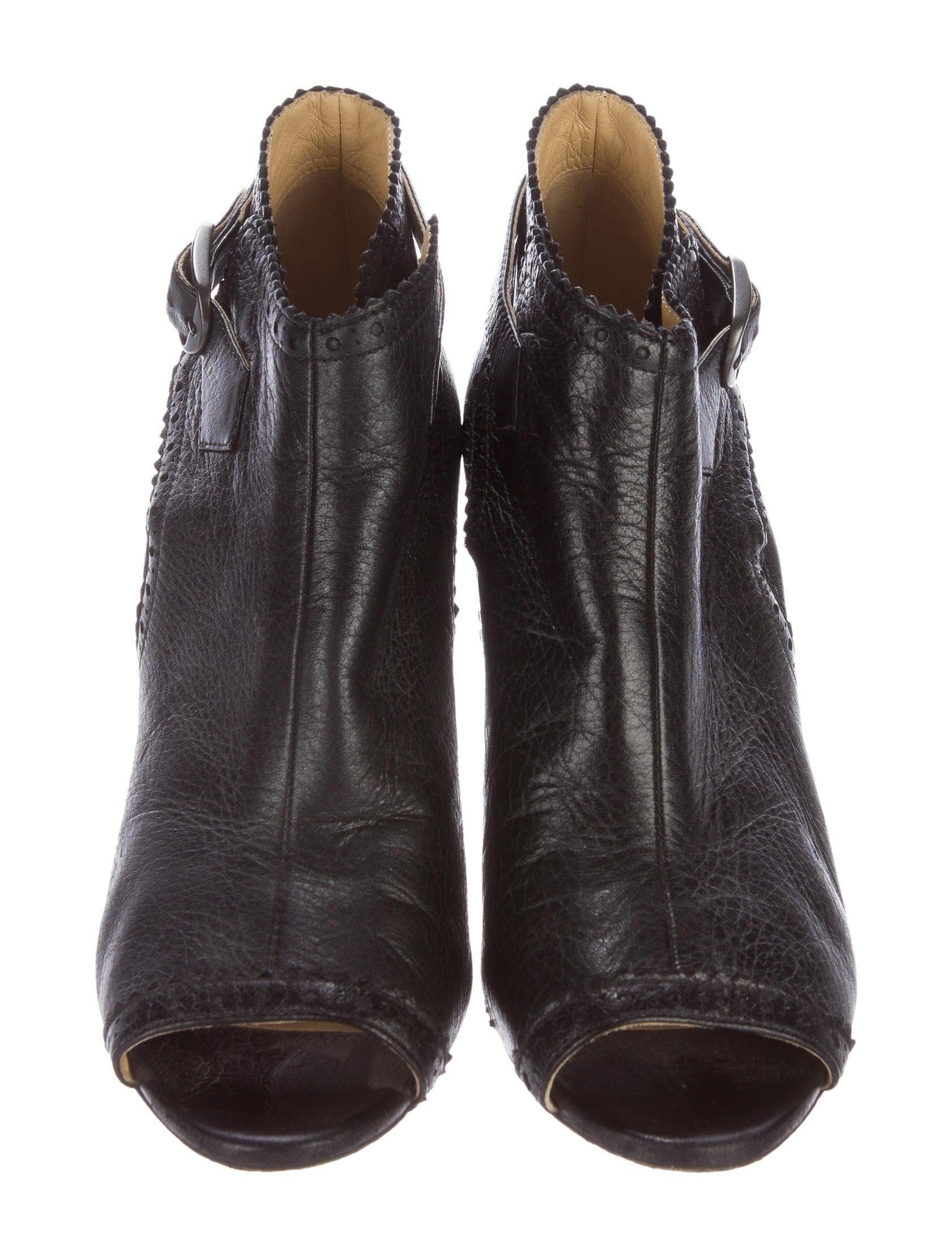 balenciaga peep toe wedge booties shoes bal47286 the