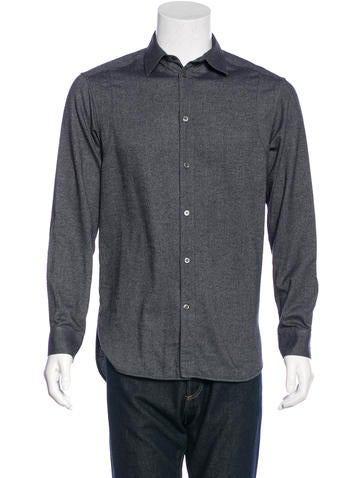 Balenciaga flannel button up shirt clothing bal47366 for Button up flannel shirts