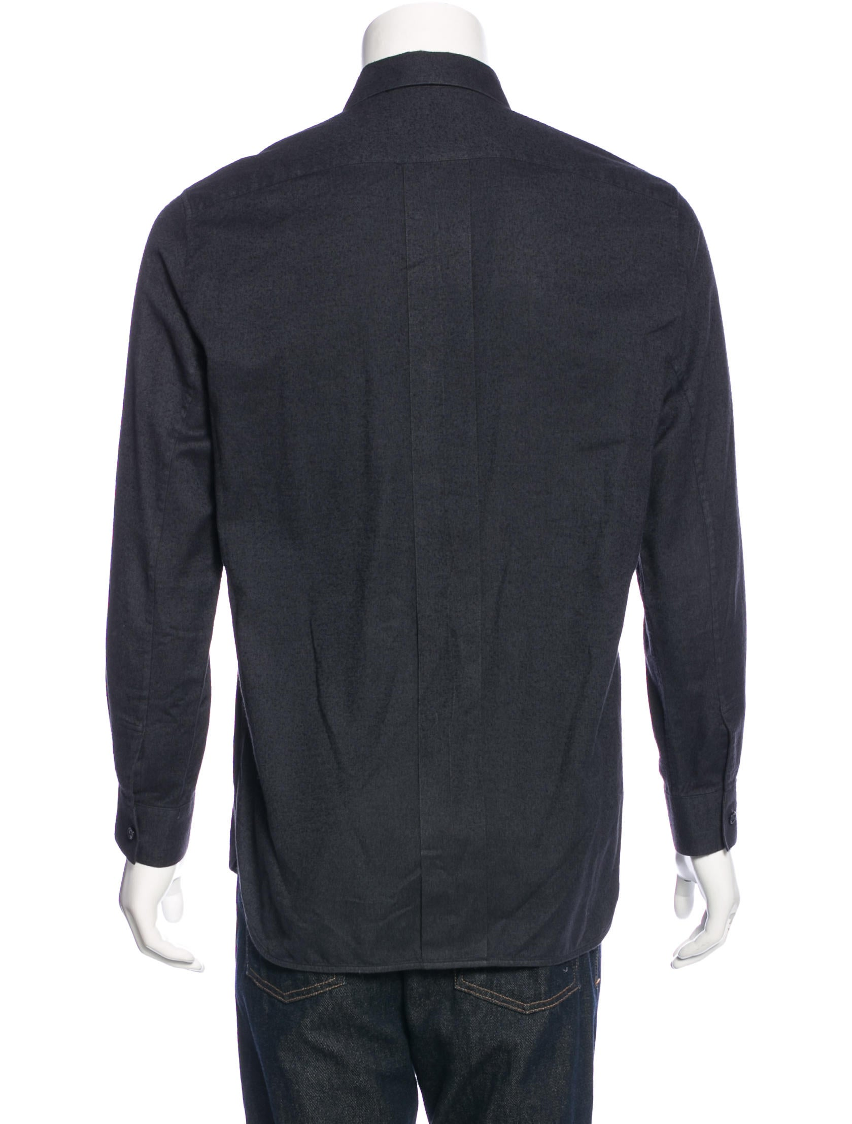 Balenciaga flannel button up shirt clothing bal47367 for Button up flannel shirts