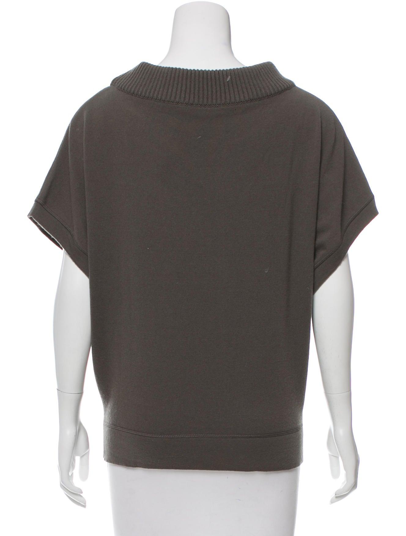 Balenciaga short sleeve wool top clothing bal47494 for Best wool shirt jackets