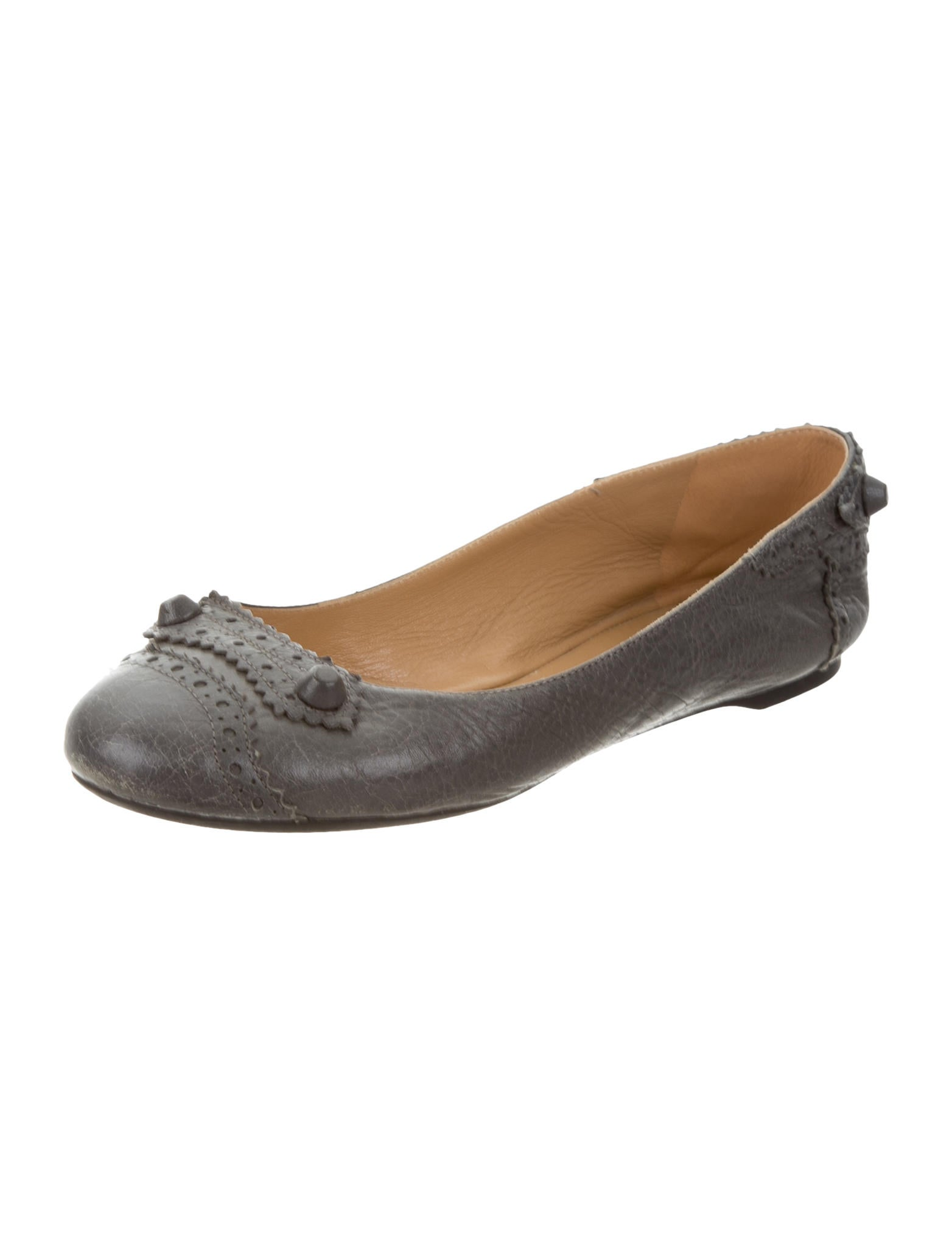 balenciaga arena toe flats shoes bal47522 the
