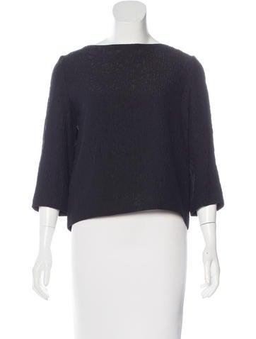Balenciaga Textured Silk Top None