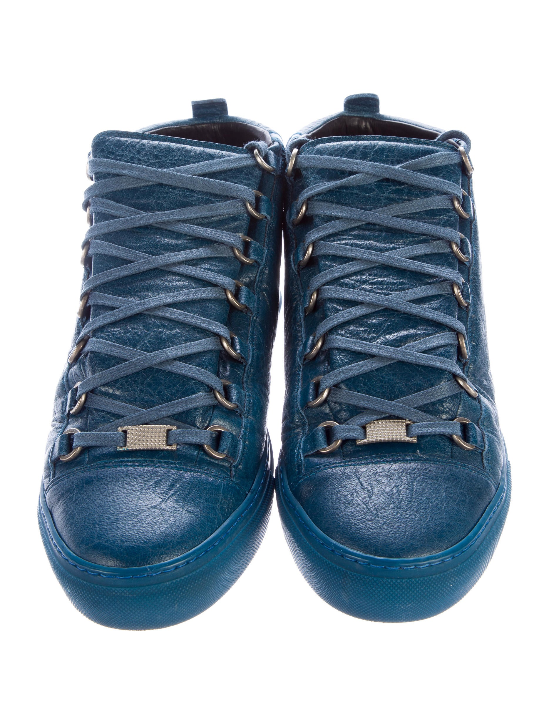 1001fdb2f65af Balenciaga Arena Leather Sneakers - Shoes - BAL47617