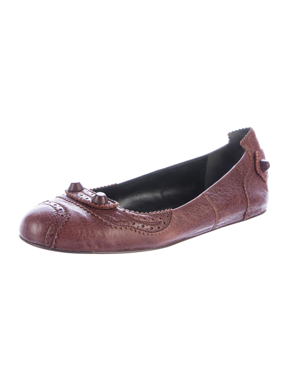 balenciaga leather arena flats shoes bal47656 the