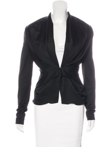 Balenciaga Draped Structured Jacket None