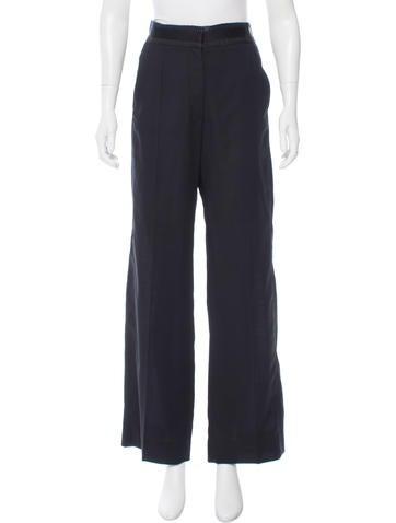 Balenciaga Wool Wide-Leg Pants None