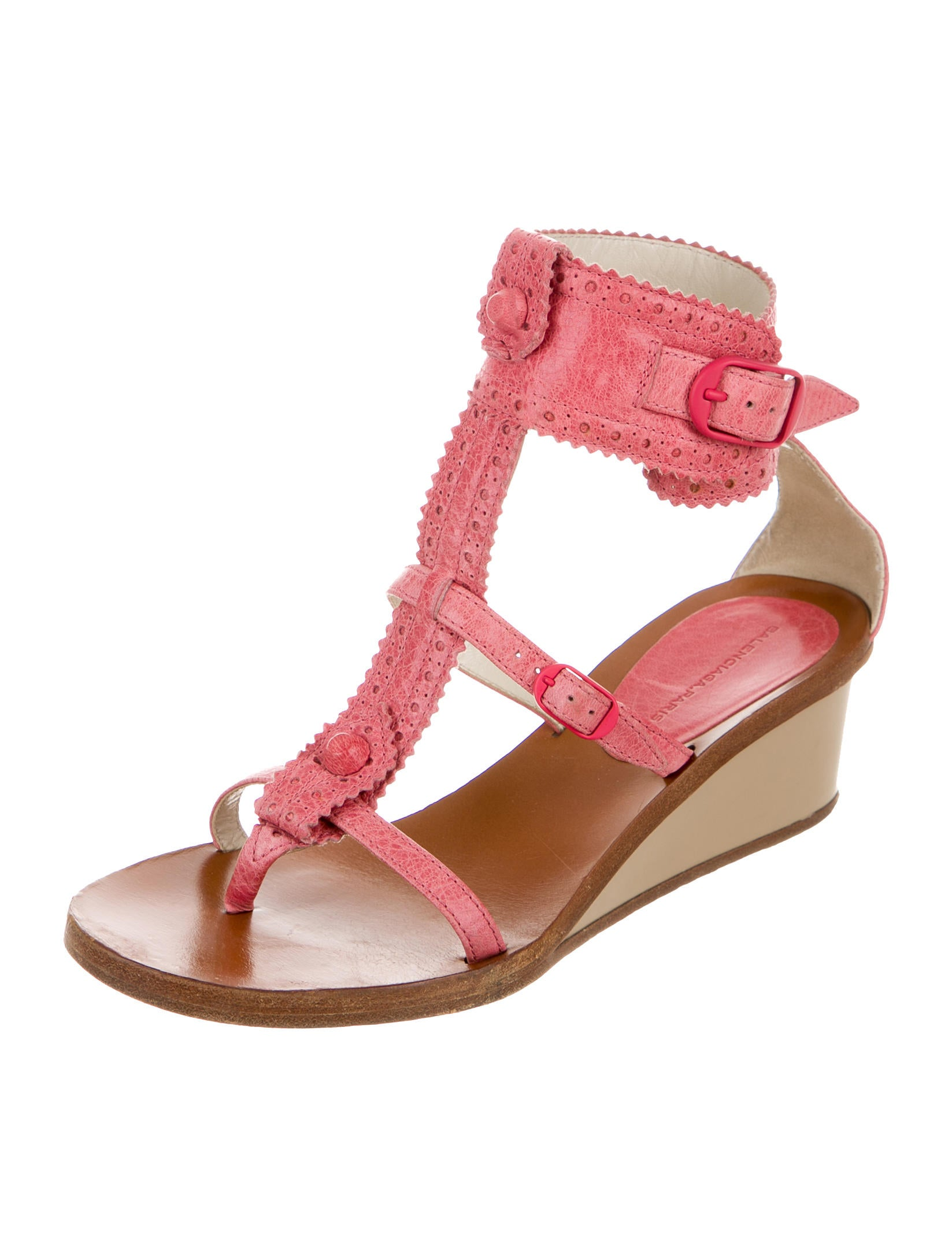 balenciaga studded wedge sandals shoes bal47898 the