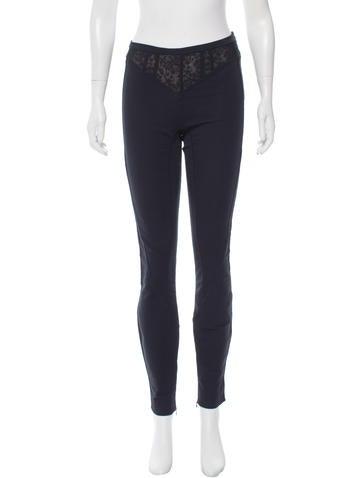 Balenciaga Lace-Trimmed Skinny Pants None