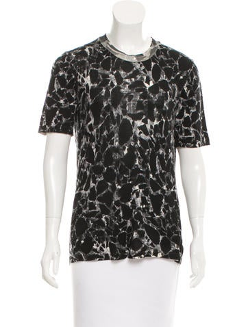 Balenciaga Abstract Printed Virgin Wool Top None