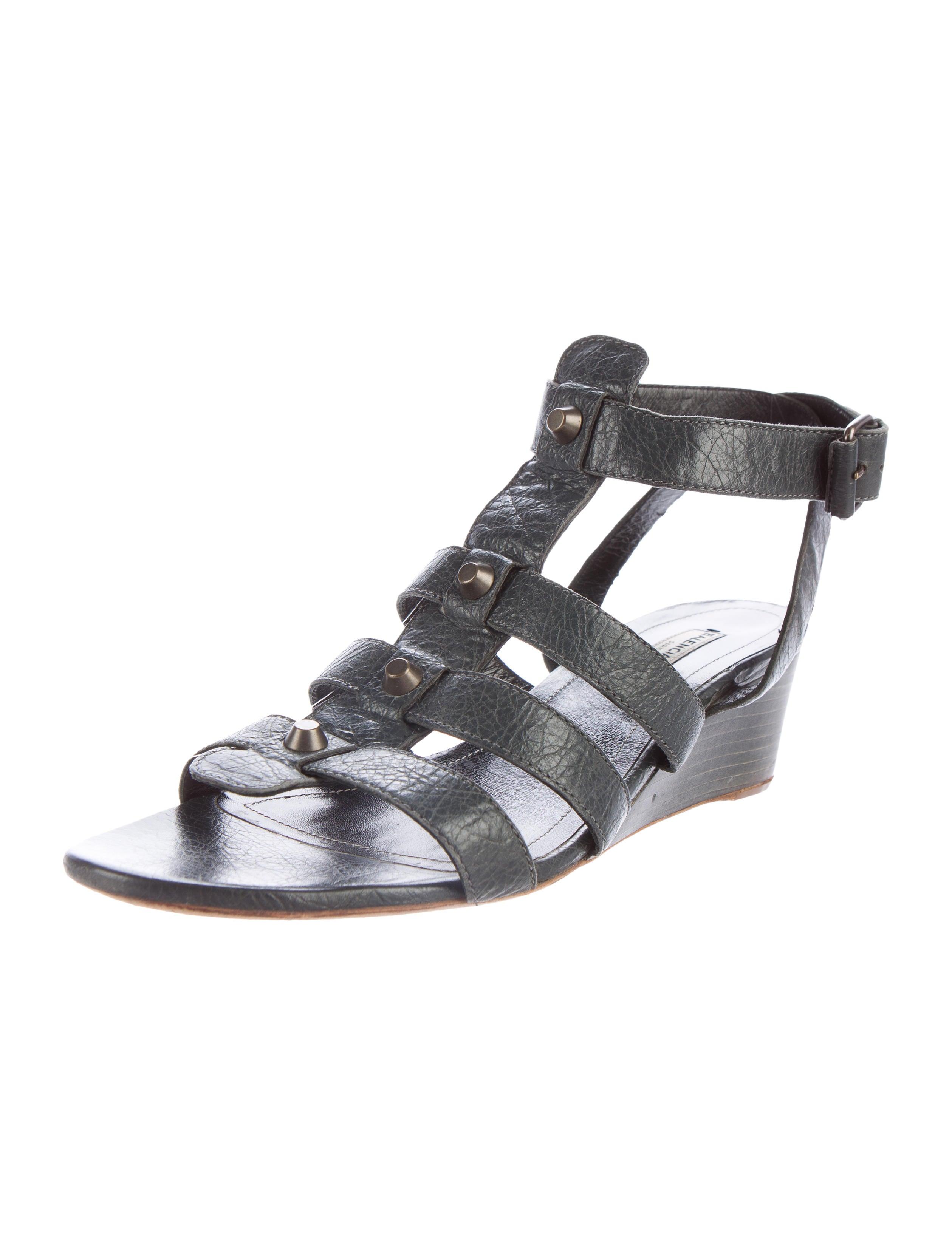 balenciaga moto wedge sandals shoes bal48488 the