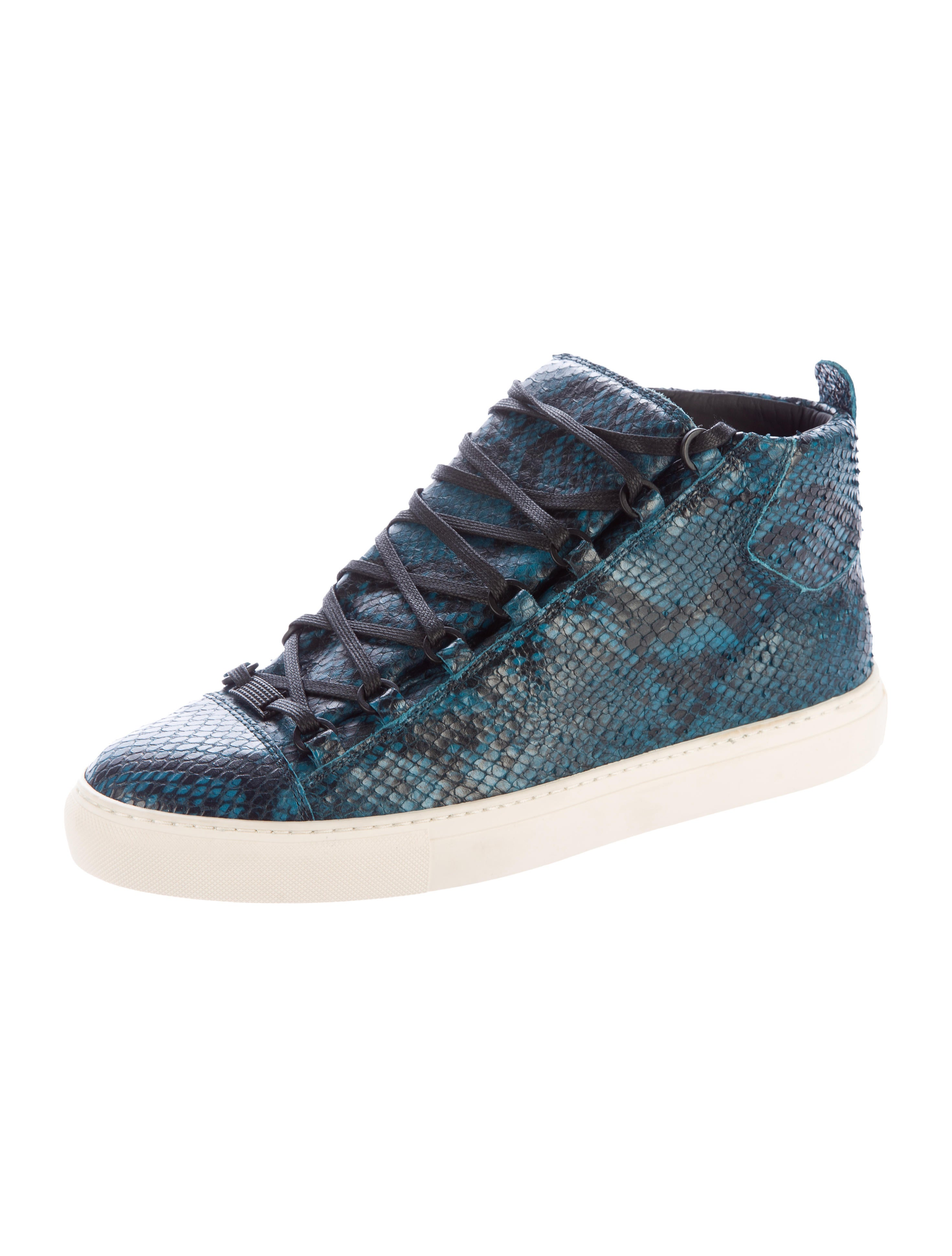 balenciaga arena snakeskin sneakers shoes bal48748 the realreal. Black Bedroom Furniture Sets. Home Design Ideas