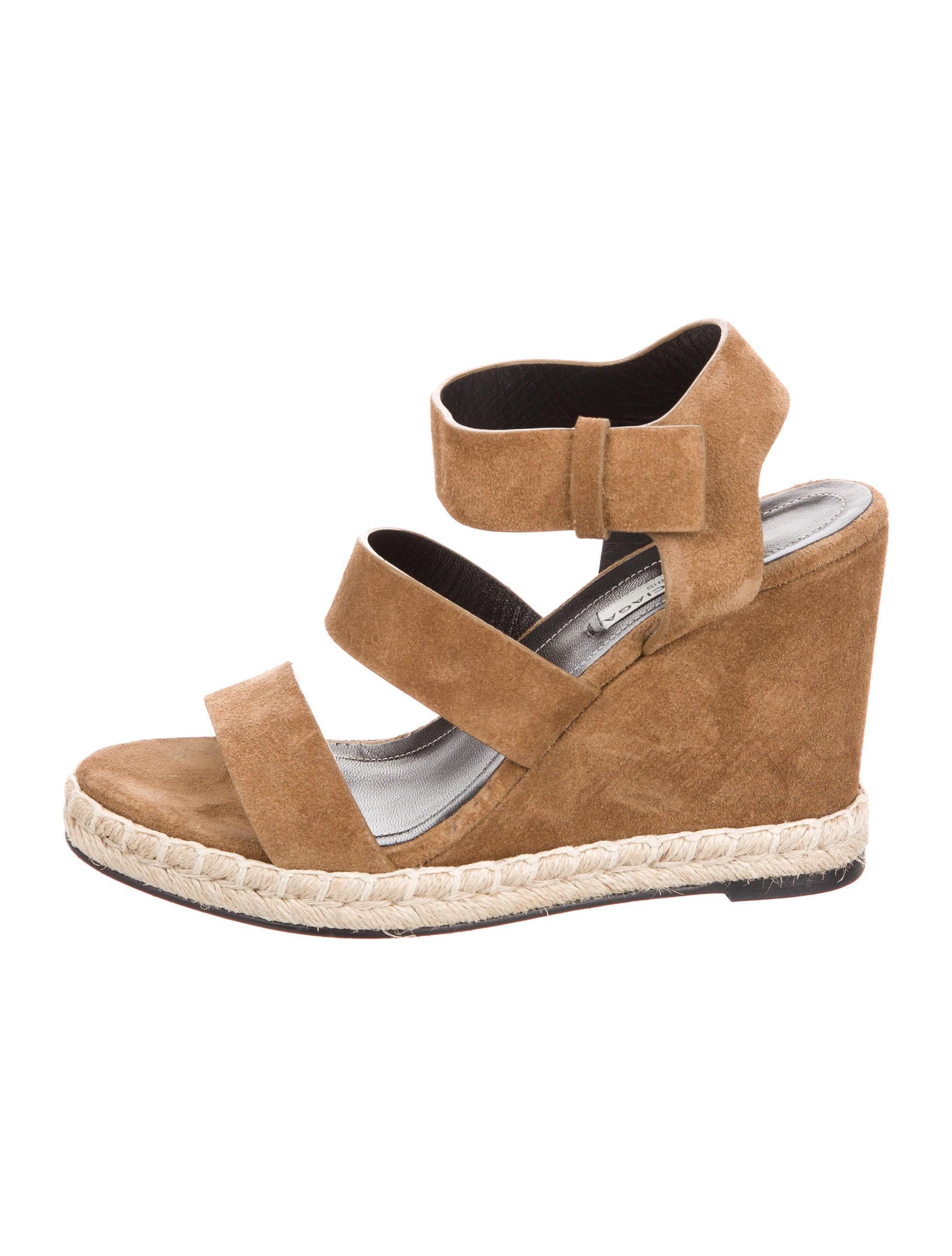 balenciaga suede wedge sandals shoes bal48770 the
