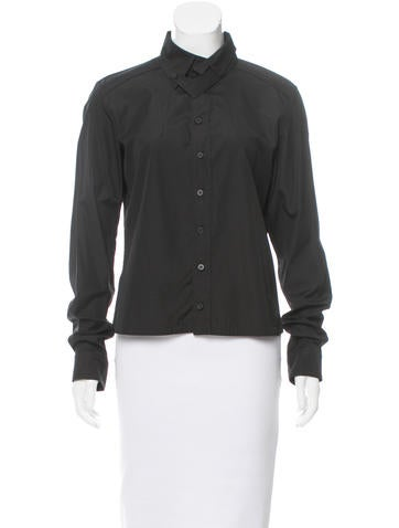 Balenciaga Button-Up Poplin Top None