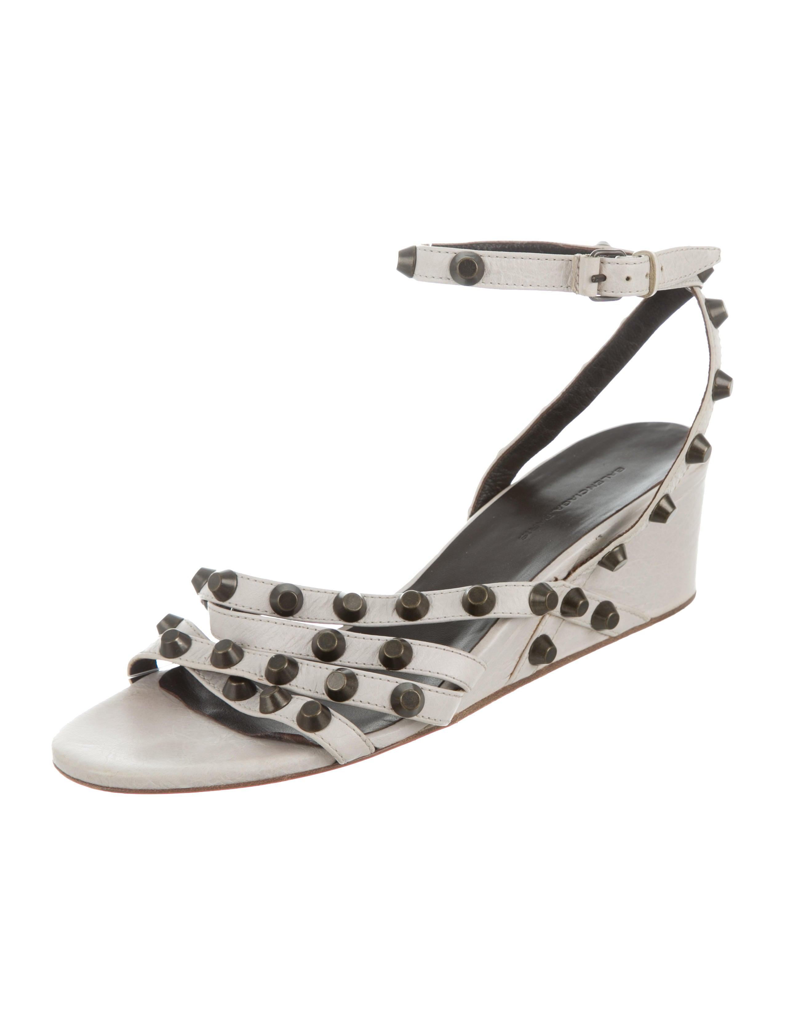balenciaga arena wedge sandals shoes bal49293 the