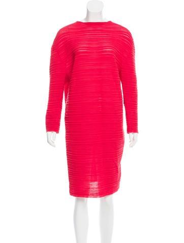 Balenciaga Long Sleeve Knit Dress None